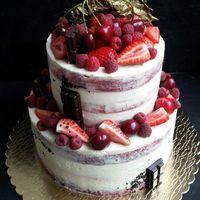 Свадебный торт-конструктор: красный бархат с сырным кремом и курдом с маракуйей