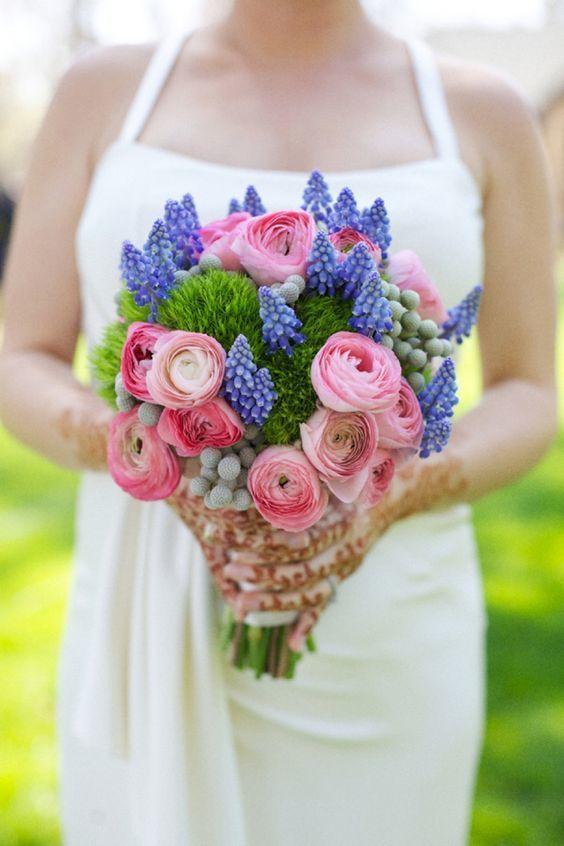 Букет невесты с мускари