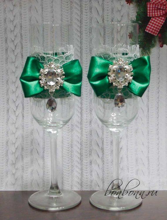 Свадебные аксессуары своими руками в зеленом цвете