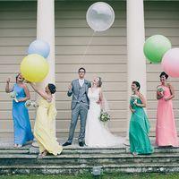 Метровые шары (Олимпийские)- сами по себе уже элемент декора