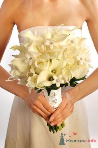 Белый букет невесты из калл - фото 1831 leshechka
