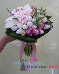 Букет невесты из роз и тюльпанов - фото 1839 leshechka