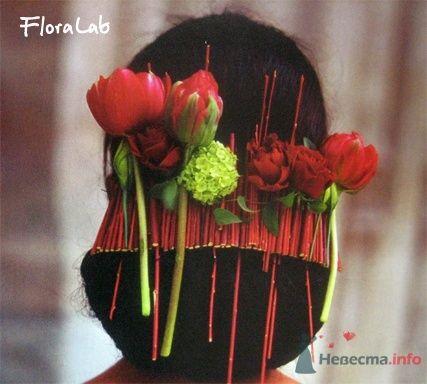 Фото 8328 в коллекции Прически с живыми цветами - leshechka
