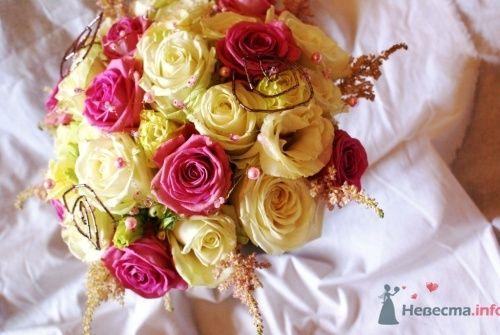 Круглый букет из роз - фото 724 Флорист-дизайнер Екатерина