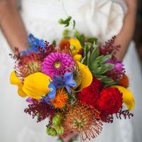 Букет невесты в стиле бохо, от 7000 рублей.