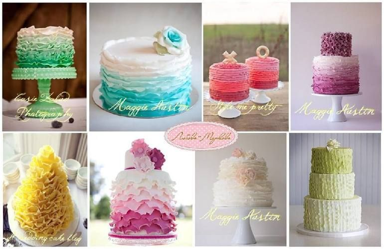 когда идеи оформления свадебного торта сеть