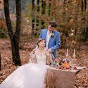 Осень,Любовь,свадьба осенью,тыква на свадьбе ,мешковина,лес