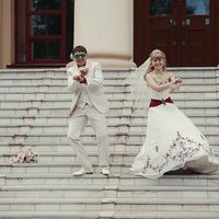 жених и невеста, гранатовая свадьба