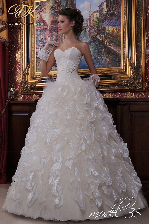 Модель 35, белое, размер 42-44 - фото 741739 Первый свадебный салон в Белореченске