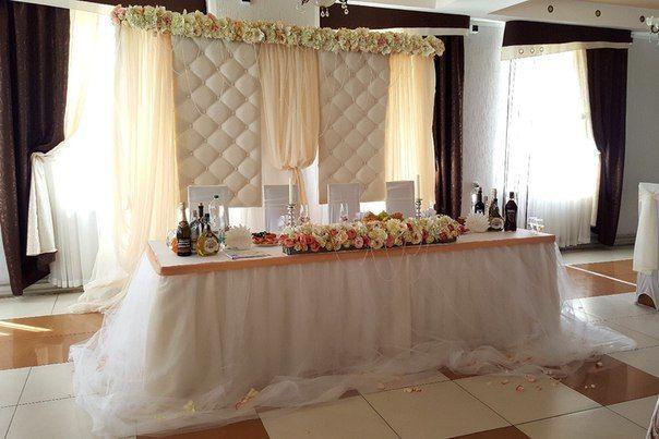 """Свадебное оформление президиума. Свадебное оформление в пудровых тонах. Декор зала в Орше - фото 16841846 Творческая мастерская оформления """"PONCH"""""""