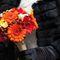 Букет невесты в осенних тонах из гербер и орхидей