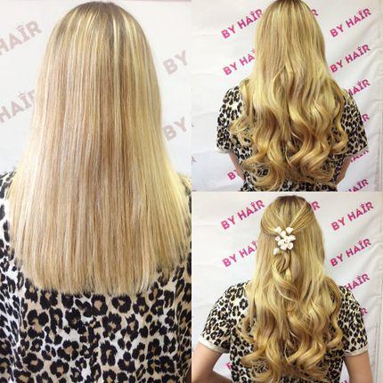 Волнистые волосы на заколках