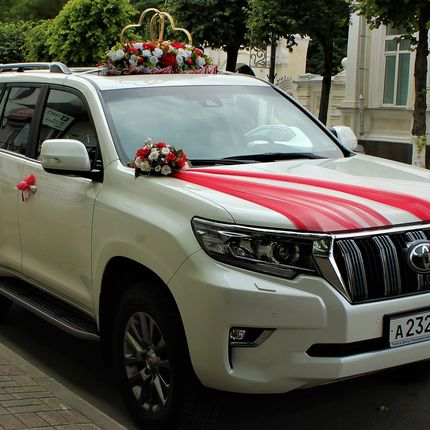 Аренда автомобиля Toyota Land Cruiser Prado, цена за 1 час