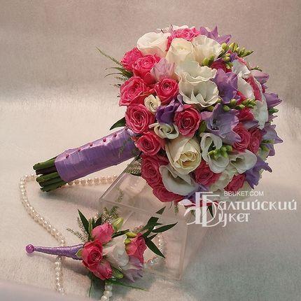 Букет невесты Моника и бутоньерка