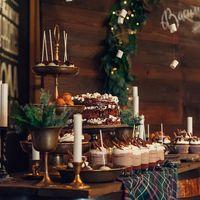 Зимняя свадьба. Сладкий стол