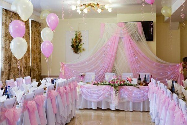 Украшаем стол жениха и невесты своими руками