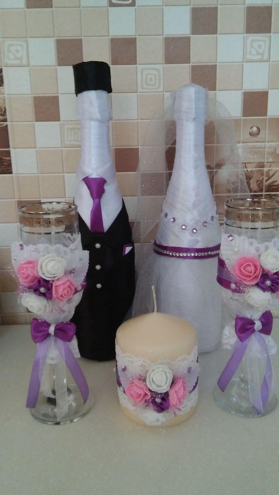 Оформление бутылок Шампанского на свадьбу, Юбилеи. НЕДОРОГО. - фото 15276822 Photo print - пригласительные на свадьбу