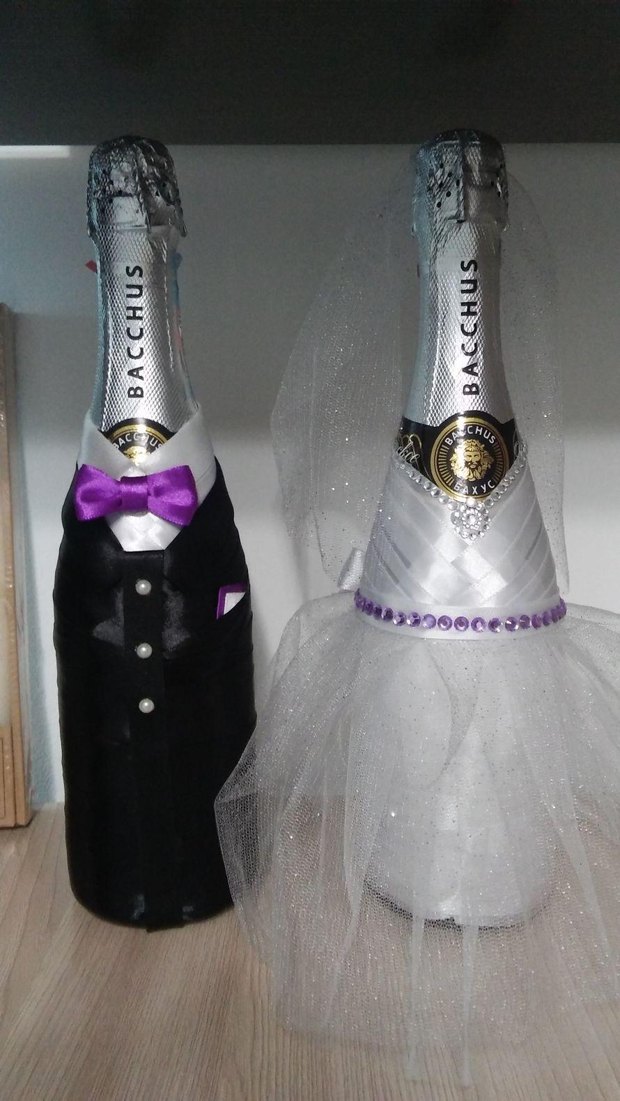 Оформление бутылок Шампанского на свадьбу, Юбилеи. НЕДОРОГО. - фото 15276824 Photo print - пригласительные на свадьбу