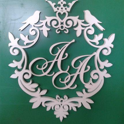 Монограмма (герб) из пенопласта