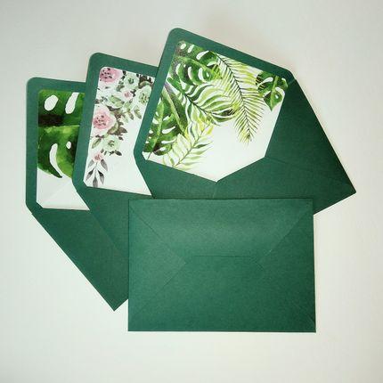 Конверты для приглашения с полноцветной вклейкой
