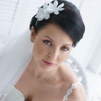 Свадебный ободок для прически