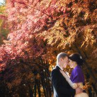 нежная осенняя свадебная фотосессия
