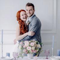 свадьба, европейская свадьба, розовый, голубой, нежно-розовый, стиль, стилизованая фтосъемка, стилизованная съемка, полиграфия, декор, букет невесты, выездная регистрация, фотостудия, студия