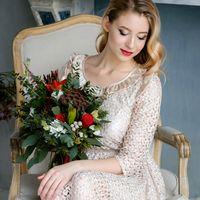 Голливудская невеста, красная помада,свадебный ретро макияж, растушеванная стрелка, Визажист-стилист Вероника Виноградова
