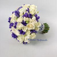 Сине белый букет невесты