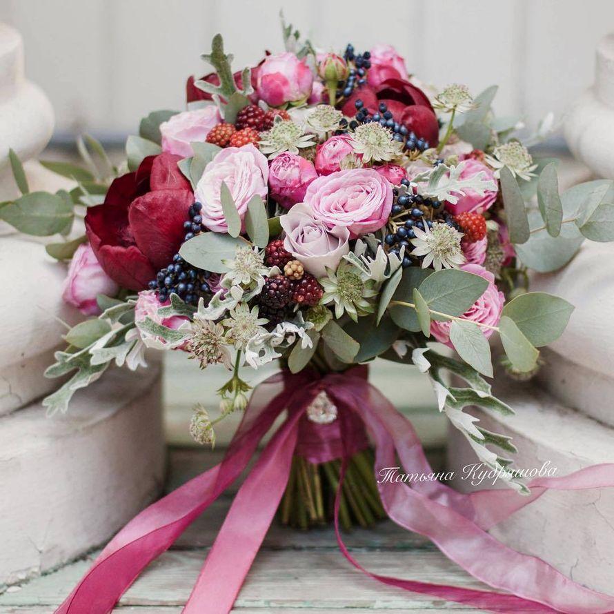 Букет невесты - фото 17627624 Цветочная мастерская Татьяны Кудряшовой