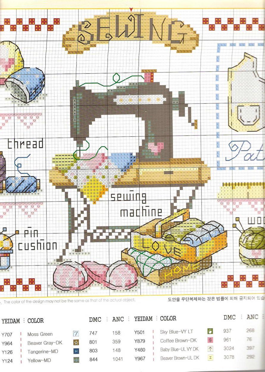 Схемы для вышивки крестиком на швейной машинке7