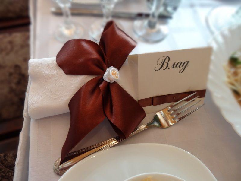 """Оформление банкетных карточек и салфеток - фото 2713301 Компания """"Аспект-Н""""- организация свадьбы"""