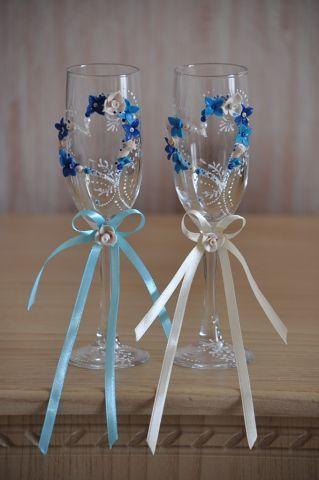 Фото 7378668 в коллекции Свадебные бокалы - Свадебные аксессуары от Ирины Козубовой