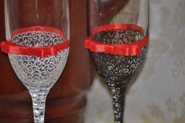 Фото 7378700 в коллекции Свадебные бокалы - Свадебные аксессуары от Ирины Козубовой