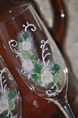 Фото 7378708 в коллекции Свадебные бокалы - Свадебные аксессуары от Ирины Козубовой