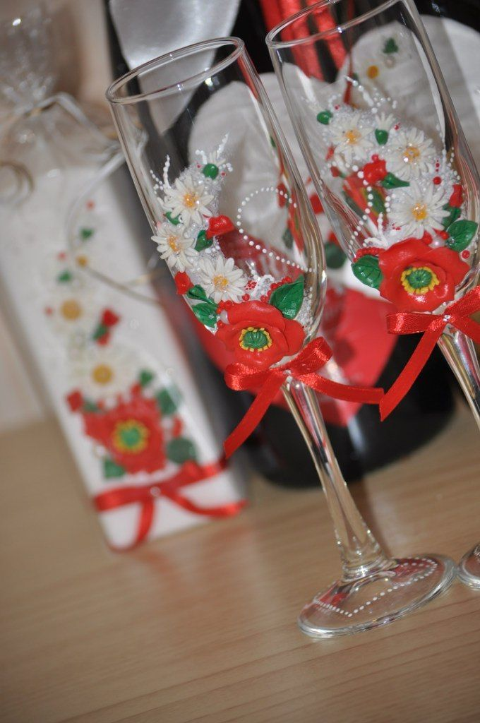 Фото 7378722 в коллекции Свадебные бокалы - Свадебные аксессуары от Ирины Козубовой