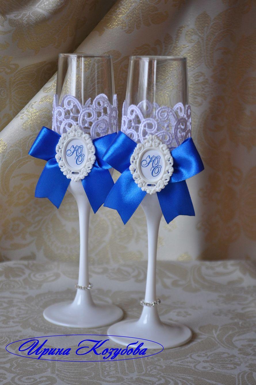 Фото 14283796 в коллекции Свадебные бокалы - Свадебные аксессуары от Ирины Козубовой