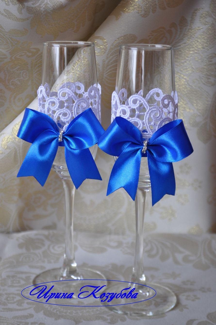Фото 14283798 в коллекции Свадебные бокалы - Свадебные аксессуары от Ирины Козубовой