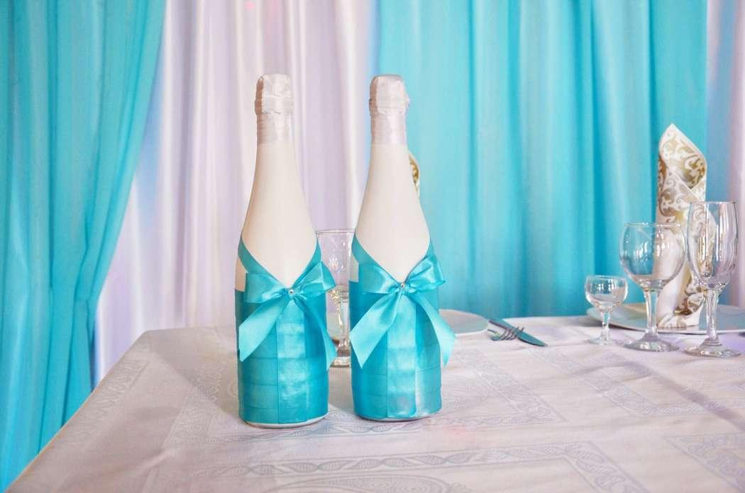 Свадебное шампанское. - фото 7402936 Оформление свадеб Flor de Liz