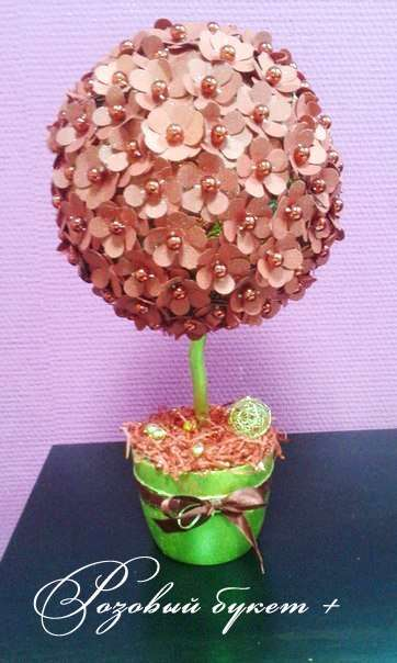 """Дерево счастья. - фото 8179644 Салон флористики и декора """"Розовый букет"""""""