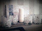 """подсвечники с кружевом - фото 16249518 Салон флористики и декора """"Розовый букет"""""""