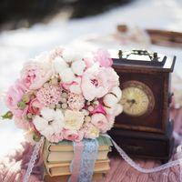 зимняя свадьба, аптекарский огород, прованс, шебби шик, розовый, вязаный плед, санки, букет невесты, хлопок