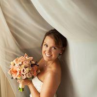 образ невесты, коричневый, пудровый, розовый, букет, nude, нюдовый макияж
