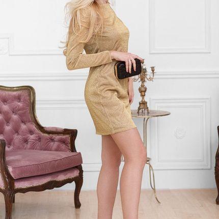 Прямое коктейльное платье