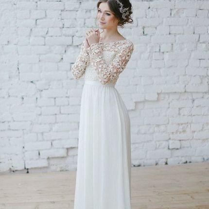 """Свадебное платье """"Вязаные цветы"""""""