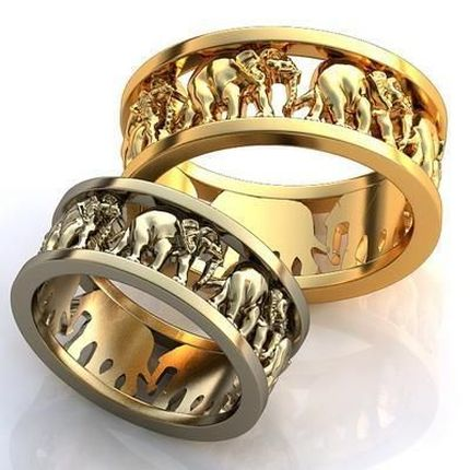 Необычные парные кольца