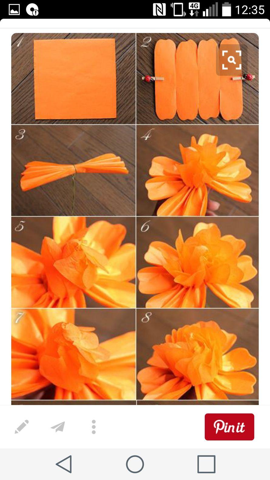 Как легко сделать цветы из бумаги своими руками поэтапно фото