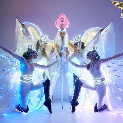 Световое шоу экстрим балет Fireangels - 5 артистов