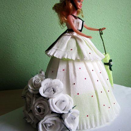 Украшение - Кукла-невеста с конфетами