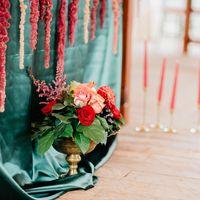 Свадьба в стиле Бохо Марсала Президиум Стол молодых Стол молодоженов Мини-отель Таежный
